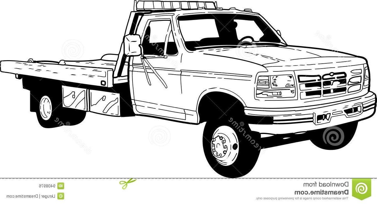 Ford on tow truck clipart black and white vector transparent library Tow Truck Drawing at PaintingValley.com   Explore collection of Tow ... vector transparent library