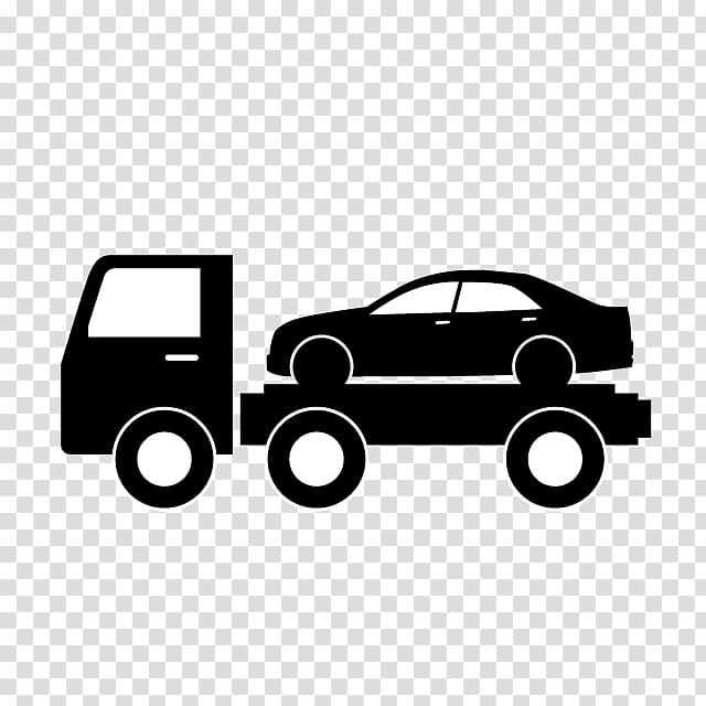 Ford on tow truck clipart black and white clip art transparent library Car Tow truck Flatbed truck , car transparent background PNG clipart ... clip art transparent library