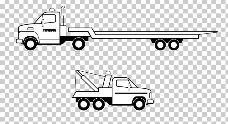 Ford on tow truck clipart black and white clip library library Tow Truck Flatbed Truck Semi-trailer Truck Mack Trucks PNG, Clipart ... clip library library