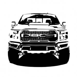 Ford raptor logo clipart clipart black and white download Vector Ford F Raptor Svt | HandandBeak clipart black and white download