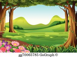 Foreat clipart free library Forest Clip Art - Royalty Free - GoGraph free library