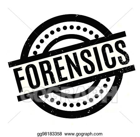 Forensics clipart clip Vector Clipart - Forensics rubber stamp. Vector Illustration ... clip