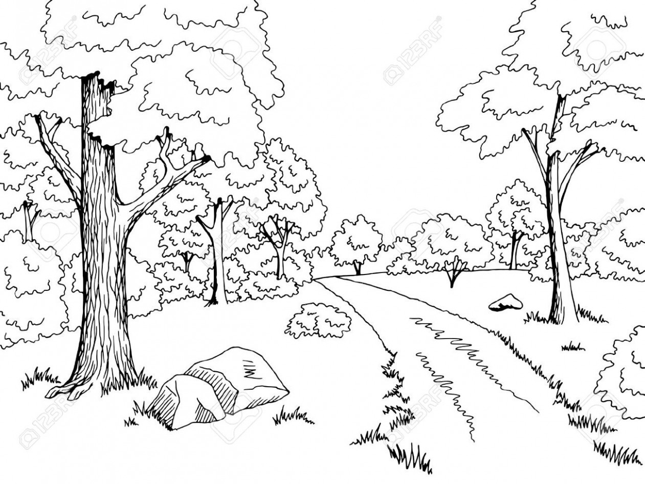 Forest black and white clipart png freeuse download Forest black and white clipart 9 » Clipart Station png freeuse download