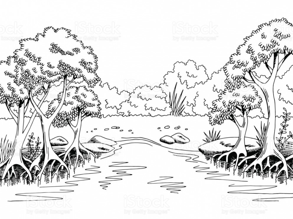 Forest black and white clipart jpg black and white stock Forest black and white clipart 8 » Clipart Station jpg black and white stock
