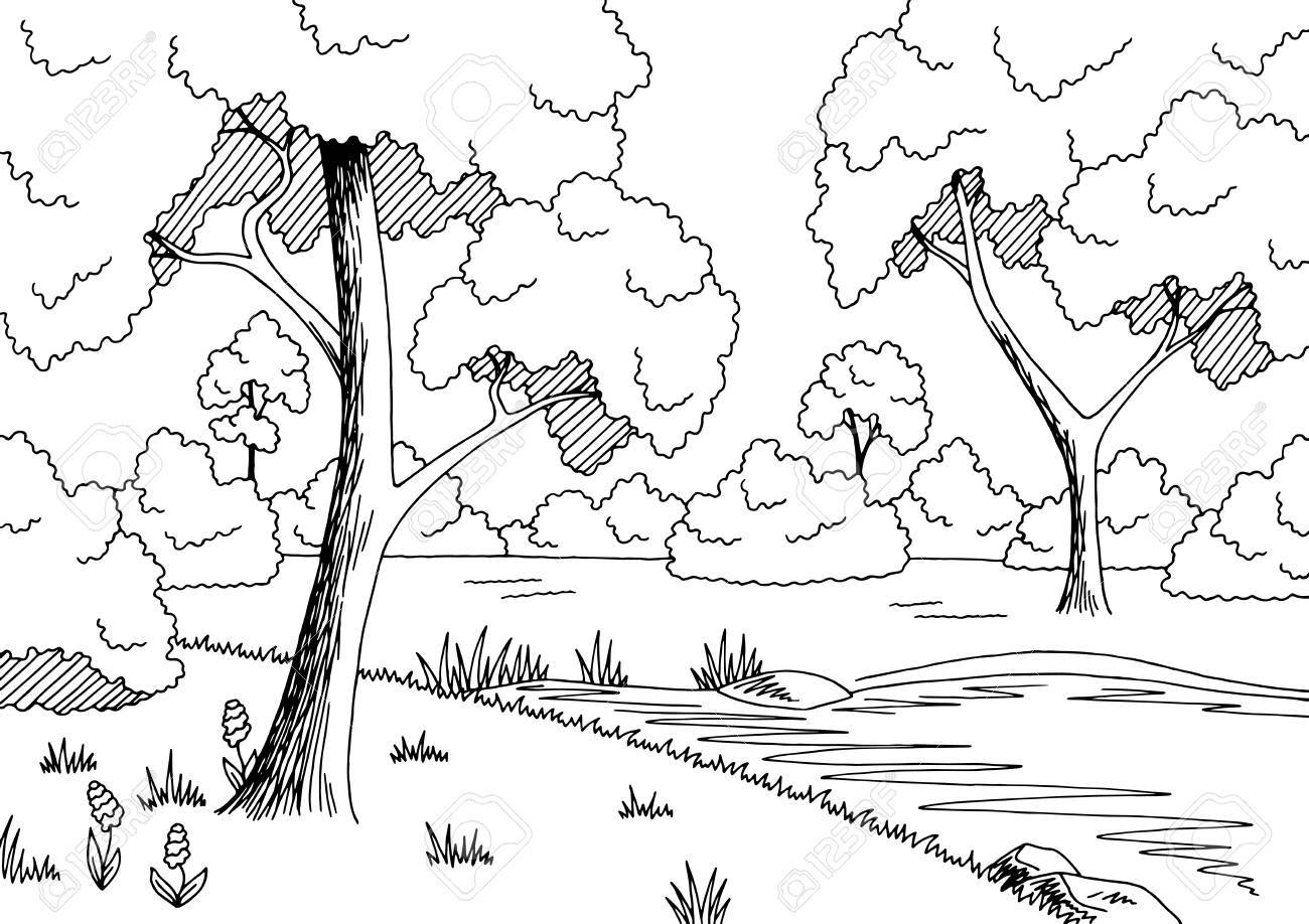 Forest black and white clipart png stock Forest black and white clipart » Clipart Station png stock