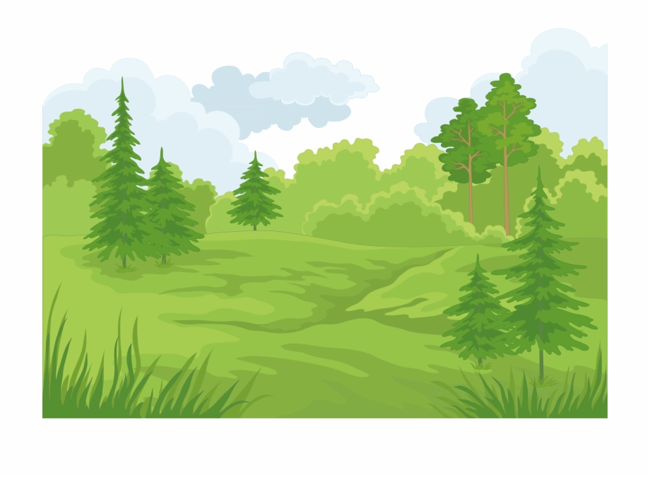 Forest cartoon clipart. Landscape clip art transparent