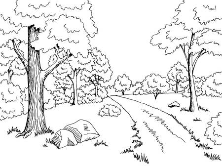 Forest clipart black and white looking up image black and white download Forest black and white clipart 5 » Clipart Station image black and white download
