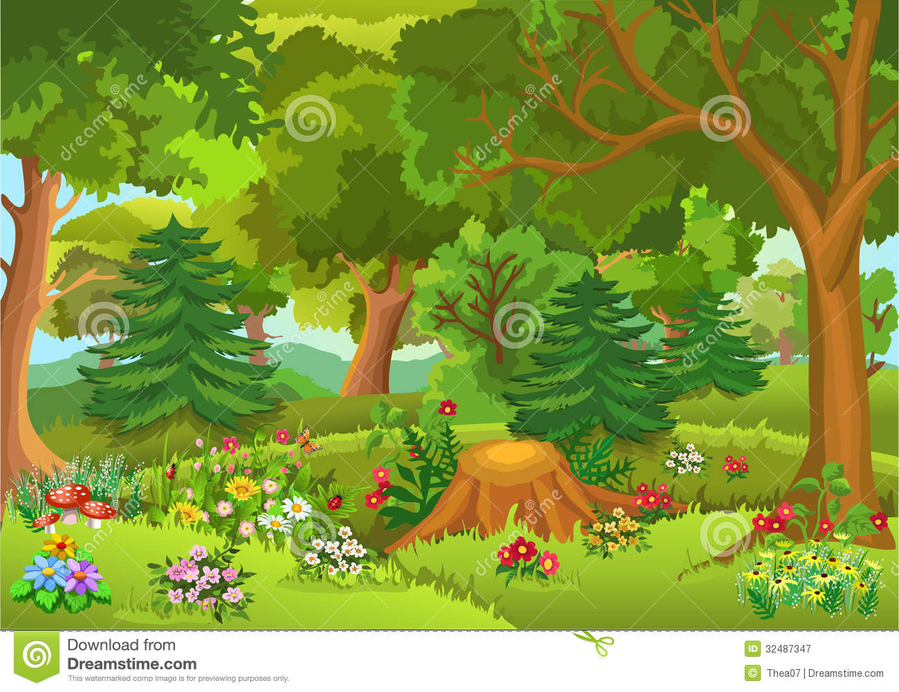 Forest clipart free. Panda images