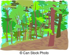 Forest clipart free. Illustrations and clip art