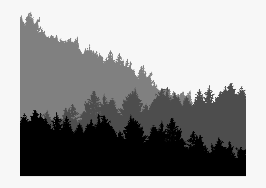 Forest clipart silhouette image black and white library Forest Treeline Landscape - Tree Line Silhouette Png #1784434 - Free ... image black and white library