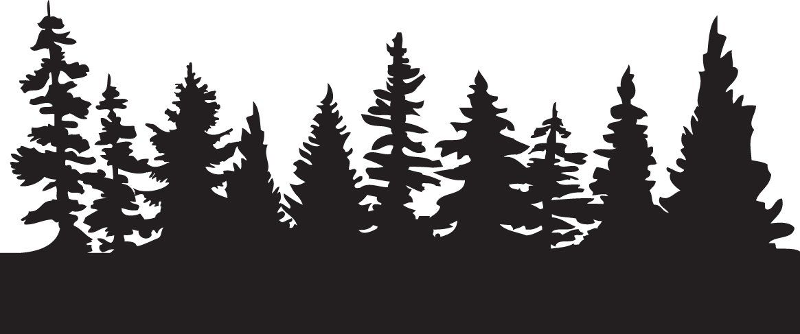 Forest clipart silhouette jpg black and white library Pin by N Tony Biasell on Tree art | Tree stencil, Tree silhouette ... jpg black and white library