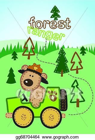 Forest ranger clipart. Vector illustration gg gograph