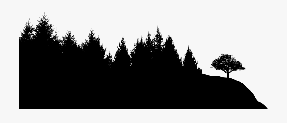 Forest silhouette clipart png royalty free Black Sileohuette Painting Tree Silhouette Png Transparent - Forest ... png royalty free