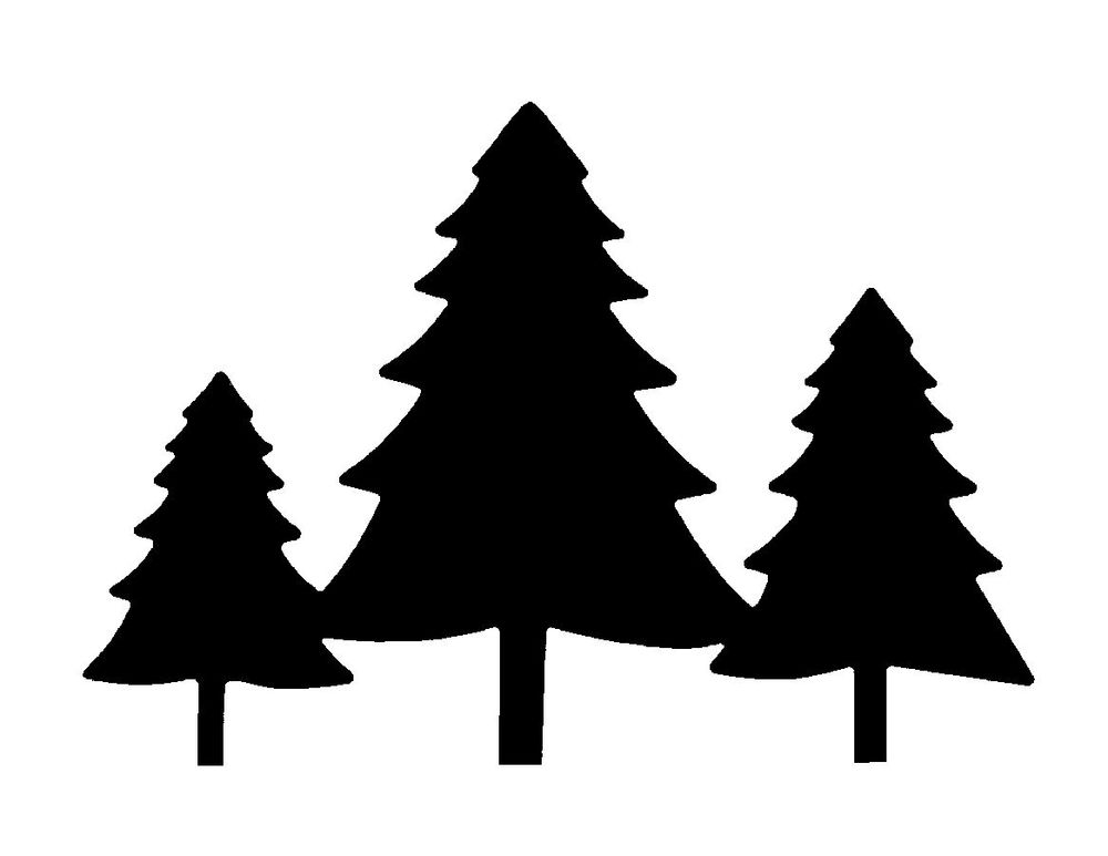 Pine silhouette clipart black and white jpg free library 56+ Pine Tree Silhouette Clip Art   ClipartLook jpg free library