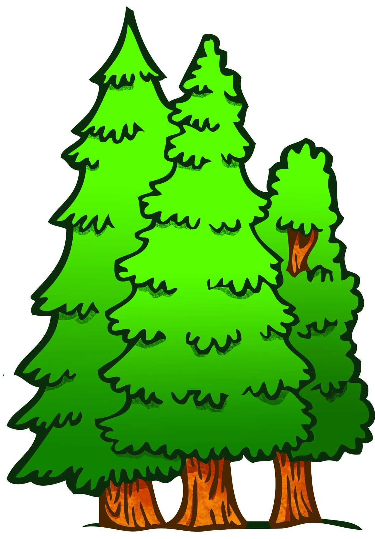 Forest trees clipart.  clip art clipartlook