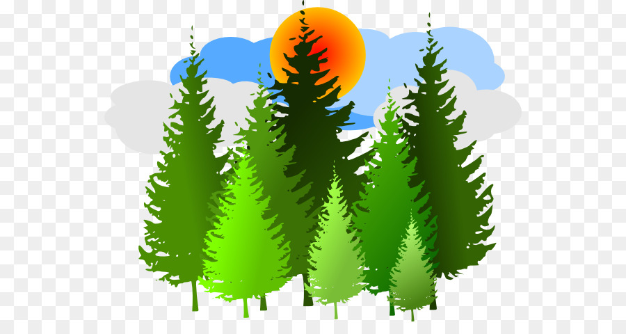Family tree background green. Forest trees clipart