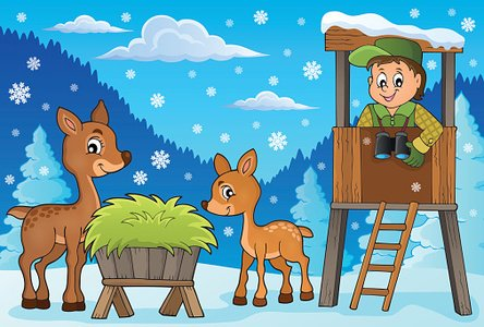 Forester clipart svg royalty free Forester Winter Theme 2 premium clipart - ClipartLogo.com svg royalty free
