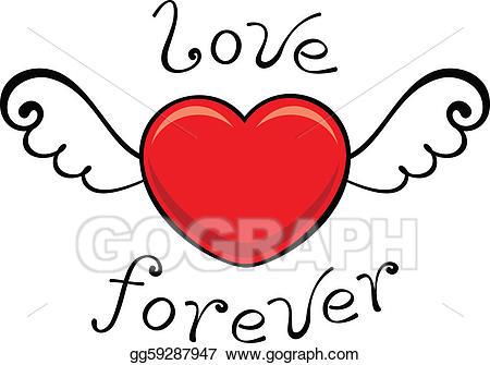 Forever clipart svg black and white stock EPS Vector - Love forever. Stock Clipart Illustration gg59287947 ... svg black and white stock