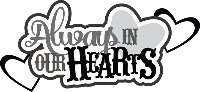 Forever in our hearts clipart black and white Always In Our Hearts SVG scrapbook cardmaking cute cvg cuts for ... black and white