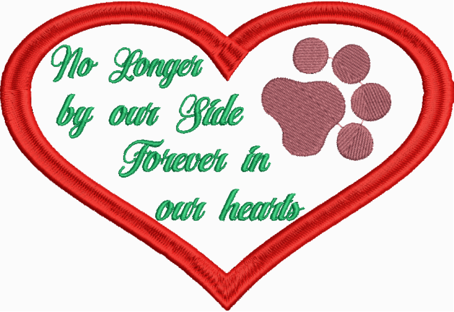 Forever in our hearts clipart clip art black and white download Animal Paw Saying Machine Embroidery Design clip art black and white download