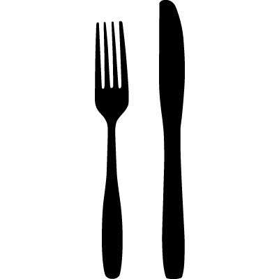 Fork and knife clipart picture black and white stock Free Fork And Knife, Download Free Clip Art, Free Clip Art on ... picture black and white stock