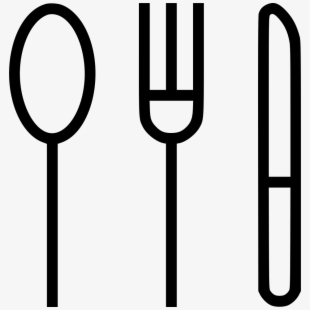 Fork knife spoon clipart black and white clip transparent download Fork Knife Spoon Clipart - Fork Knife Clip Art , Transparent Cartoon ... clip transparent download