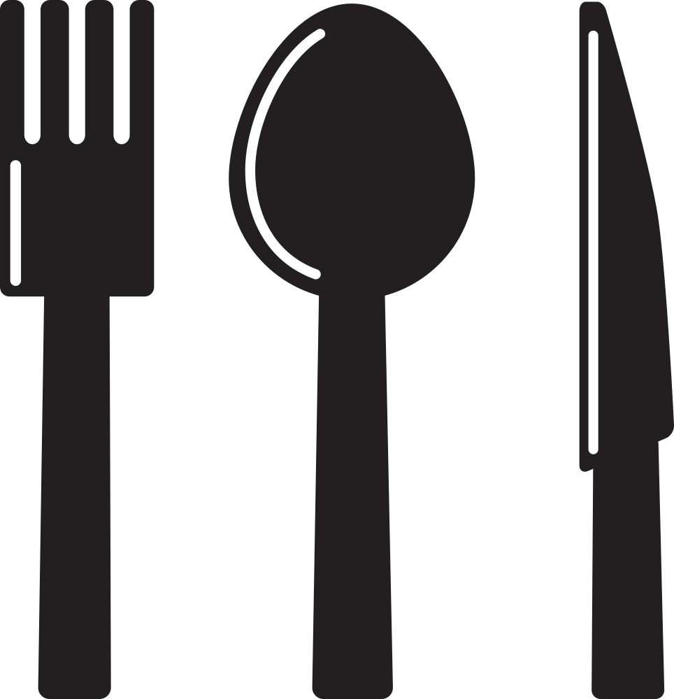 Fork spoon house clipart banner royalty free library OnlineLabels Clip Art - Kitchen Icon - Knife Spoon Fork banner royalty free library