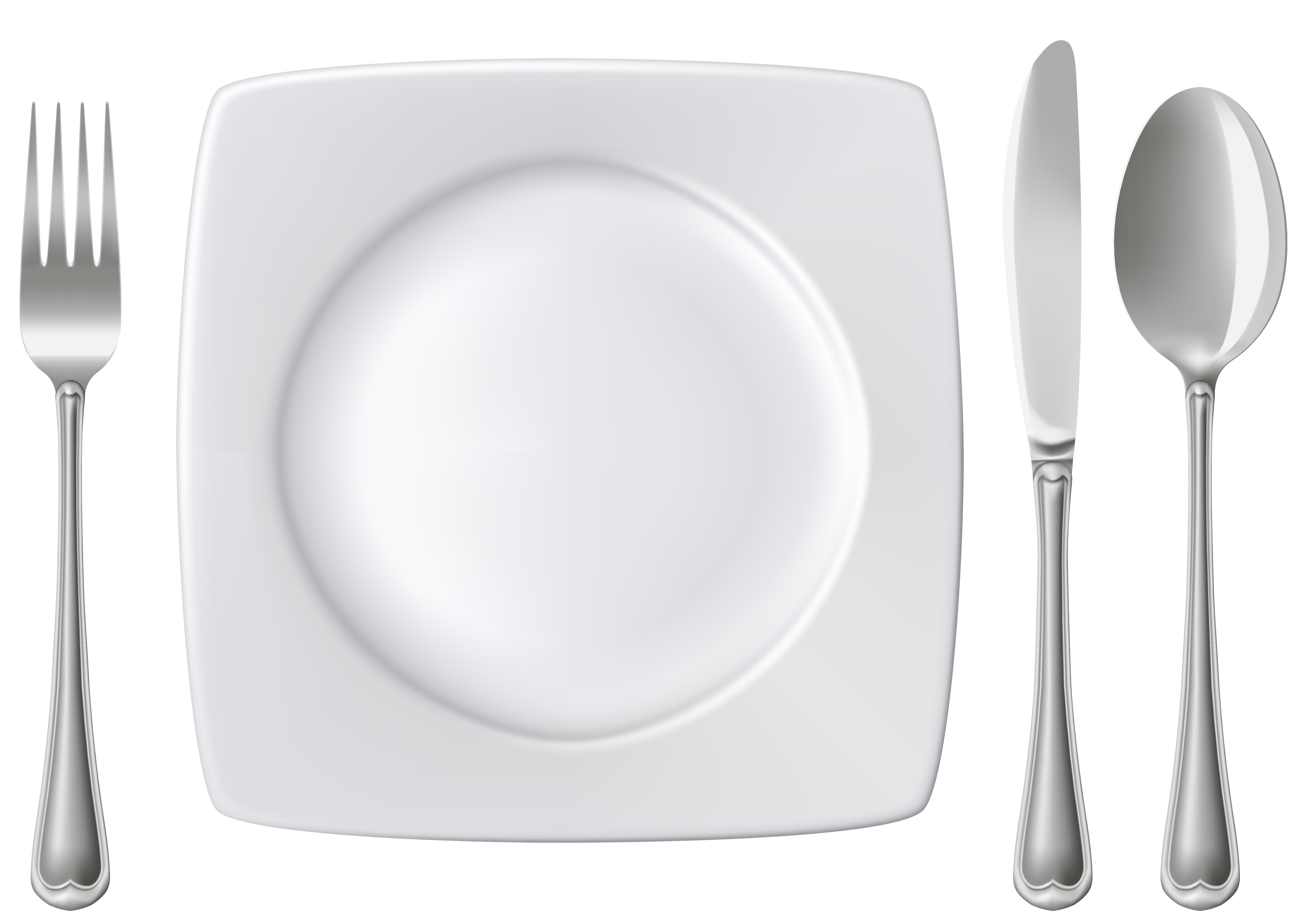 Fork spoon house clipart image transparent library Plate Spoon Knife and Fork PNG Clipart - Best WEB Clipart image transparent library