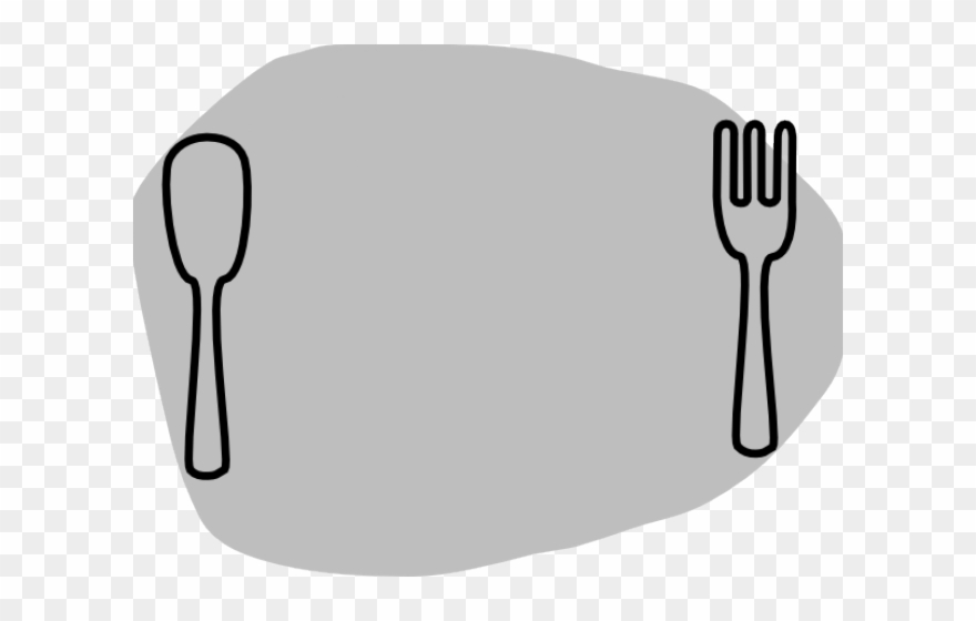 Fork thanksgiving dinner clipart black and white picture freeuse download Cutlery Clipart Thanksgiving Dinner Plate - Transparent Plate Clip ... picture freeuse download