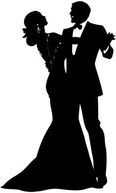 Formal ball clipart clip download Man & Woman | Silhouettes | Couple silhouette, Silhouette ... clip download