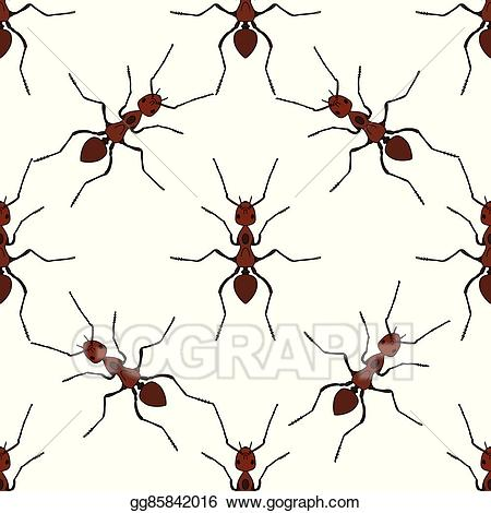 Formica logo clipart black and white stock Vector Stock - Seamless pattern with ant. formica exsecta. vector ... black and white stock