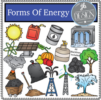 Forms of energy clipart. Pack jb design clip