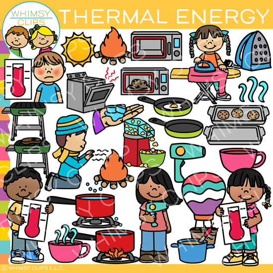 Forms of energy clipart. Thermal clip art form