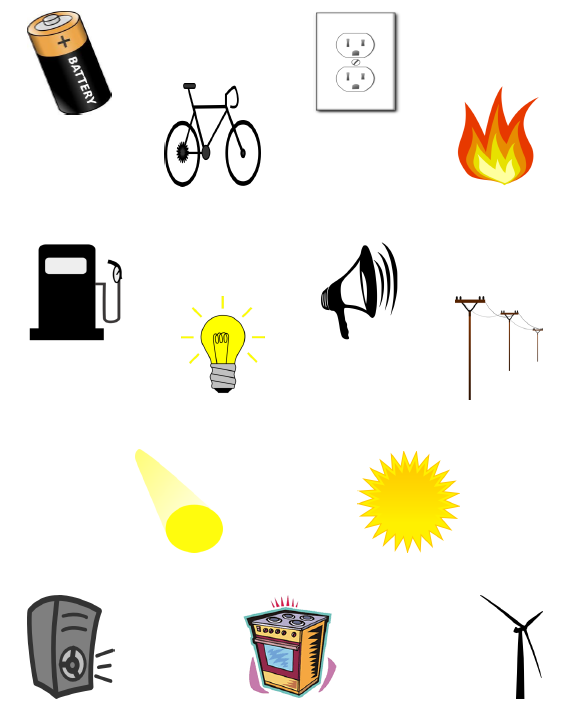 Teaching without tears foldable. Forms of energy clipart