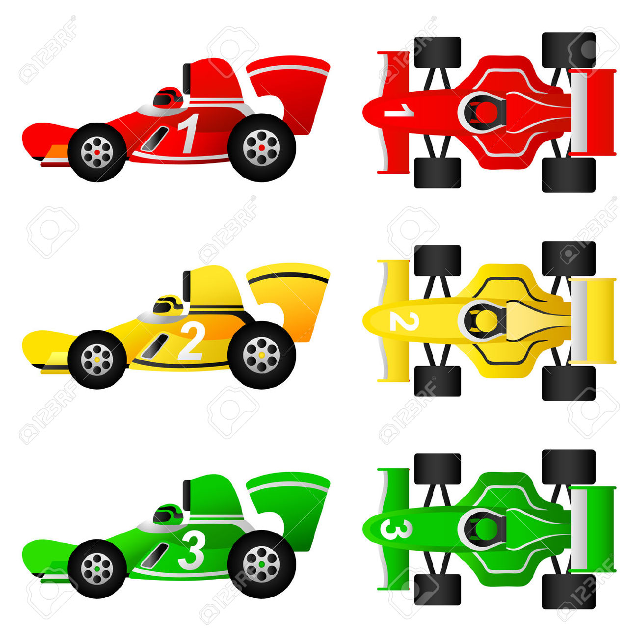 Car free . Formula 1 cars clipart