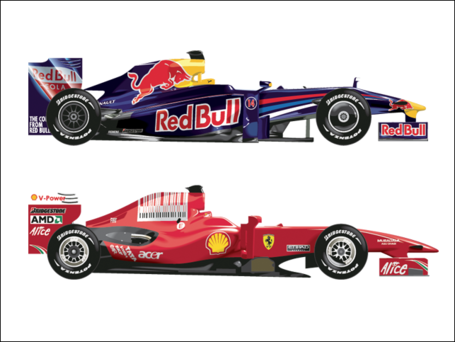 Free and vector graphics. Formula 1 cars clipart