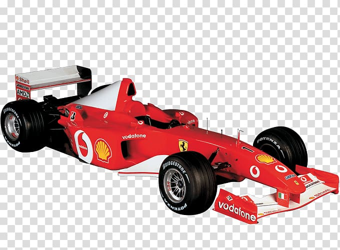 One car scuderia ferrari. Formula 1 cars clipart