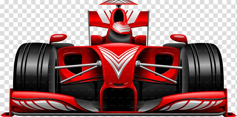 Formula 1 cars clipart. Red and black f