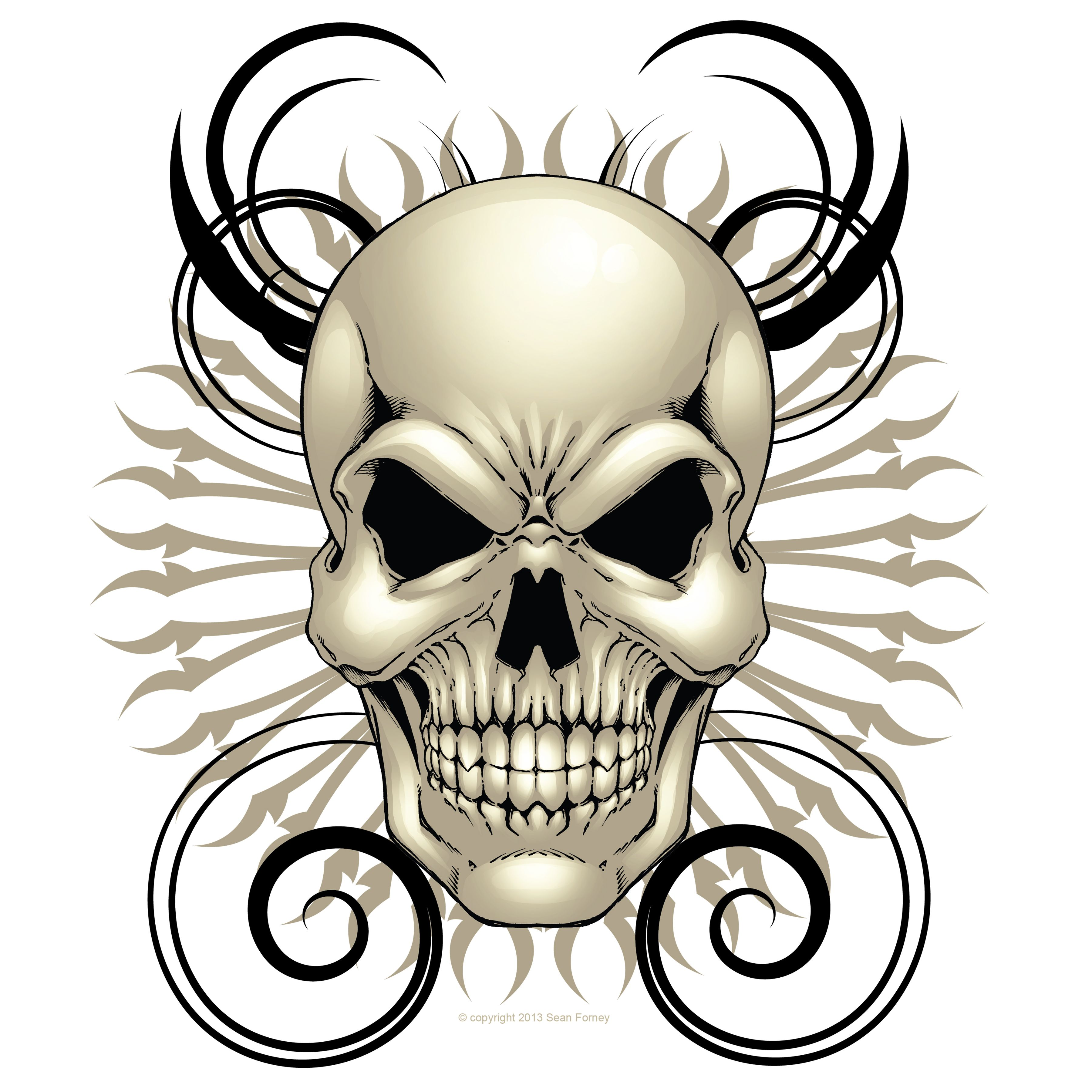 Forney clipart vector library download Skull Design 12 x 12   Sean Forney   Online Store Powered by ... vector library download
