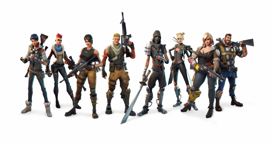 Fortnite clipart background. Battle royale characters png
