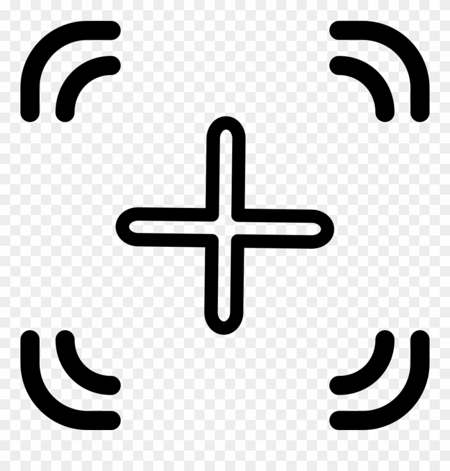 Fortnite crosshair clipart svg black and white Yükle Crosshair Svg Png Icon Free Download ( - Outllined Crosshairs ... svg black and white