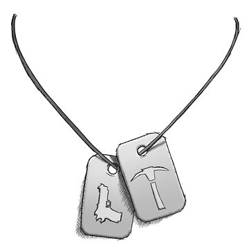 Fortnite dog tags clipart vector library stock Pug plays with an unexpected toy\