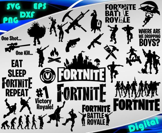 Fortnite free clipart. Svg battle royale printable