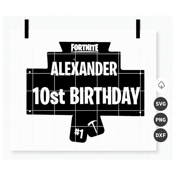 Fortnite happy birthday clipart image transparent stock Pin by Christine Turner on Cricut in 2019 | Fortnite download ... image transparent stock
