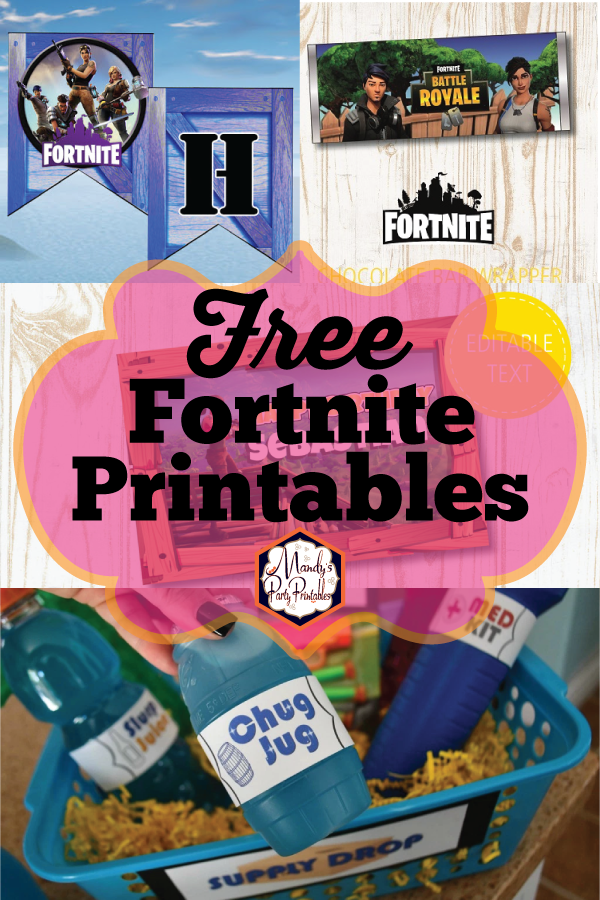 Fortnite happy birthday clipart image free stock Free Fortnite Party Printables | image free stock