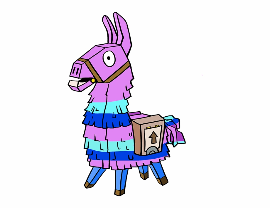 Fortnite llama clipart. How to draw from