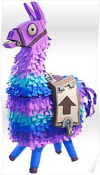 Fortnite llama clipart. Pinata poster products epic