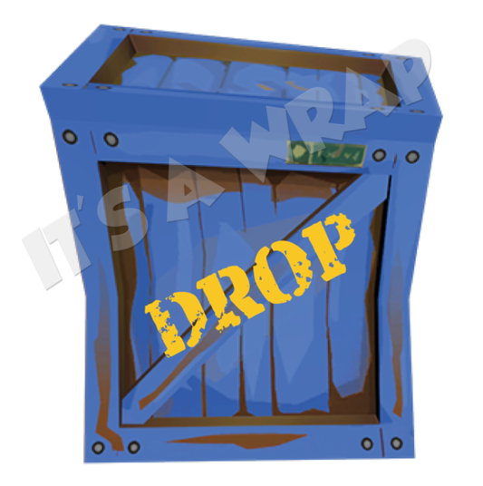 Fortnite supply drop clipart vector library stock HD 12 Fortnite Dropbox Square Gloss Stickers - Wood , Free Unlimited ... vector library stock