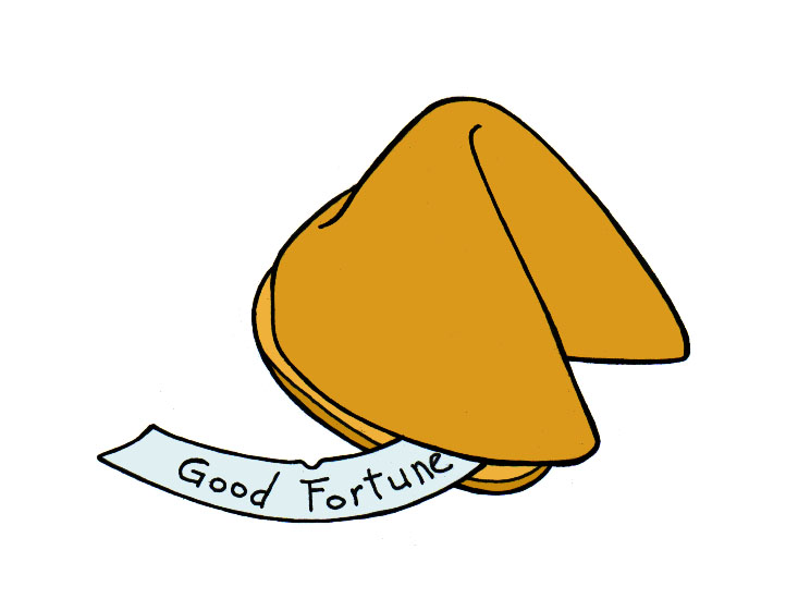 Fortune cookie clipart free