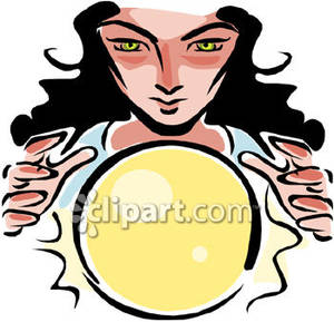 Fortune teller clipart free banner black and white download A Fortune Teller Reading a Crystal Ball Royalty Free Clipart Picture banner black and white download
